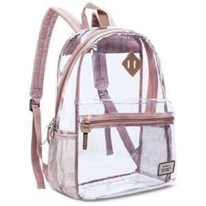 NiceEbag Clear Backpack Heavy Duty Clear Bookbag